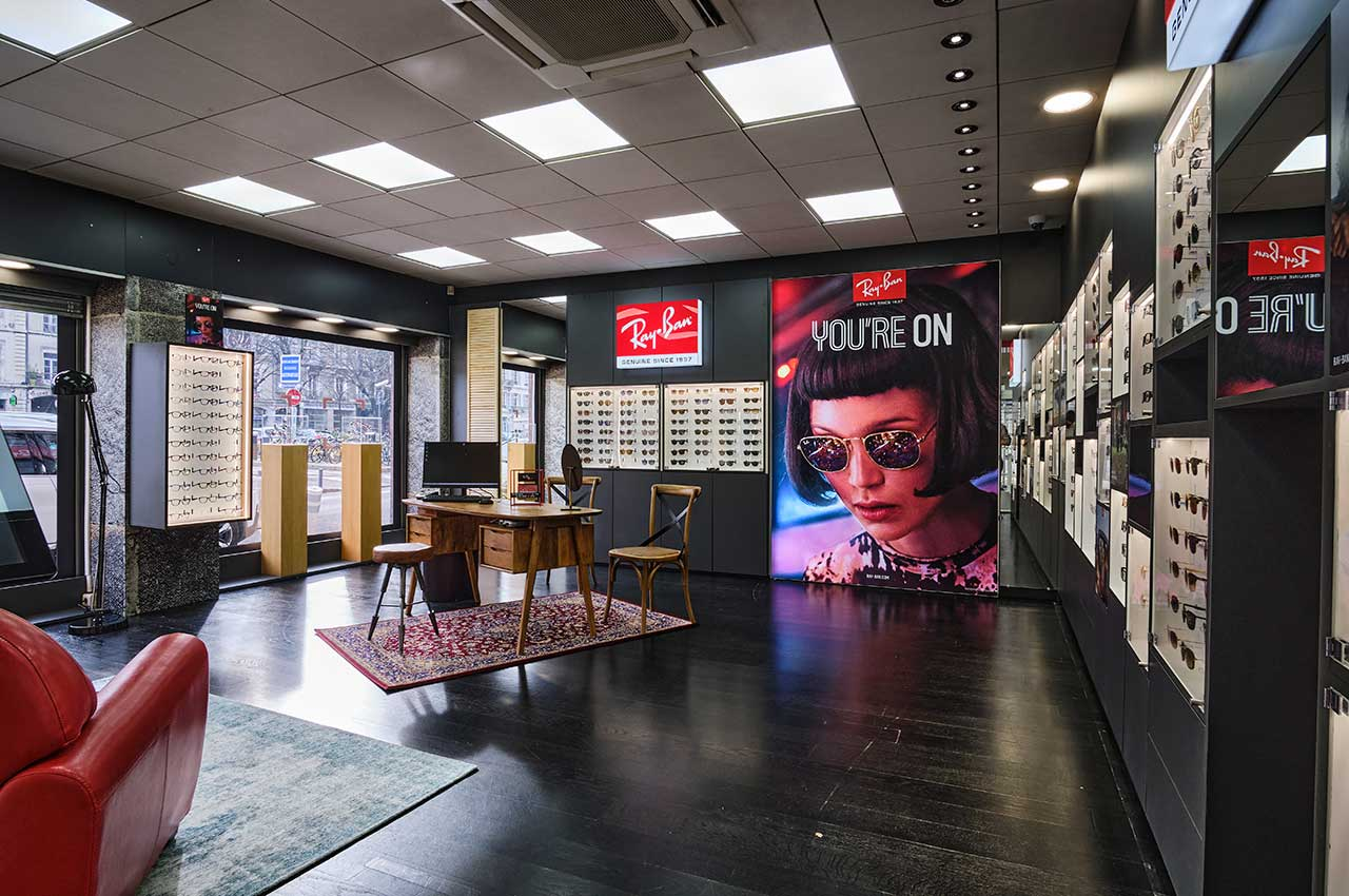 agencement magasin shop in shop Ray Ban